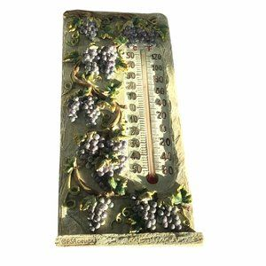 Ceramic grapevine Wall Hanging thermometer